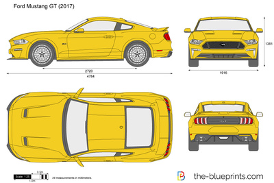 X Ford Mustang Gt Vector Drawing