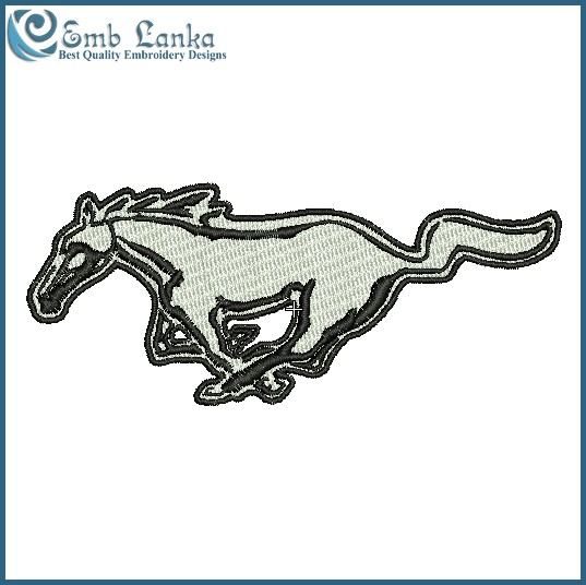 537x536 Ford Mustang Logo 2 Embroidery Design