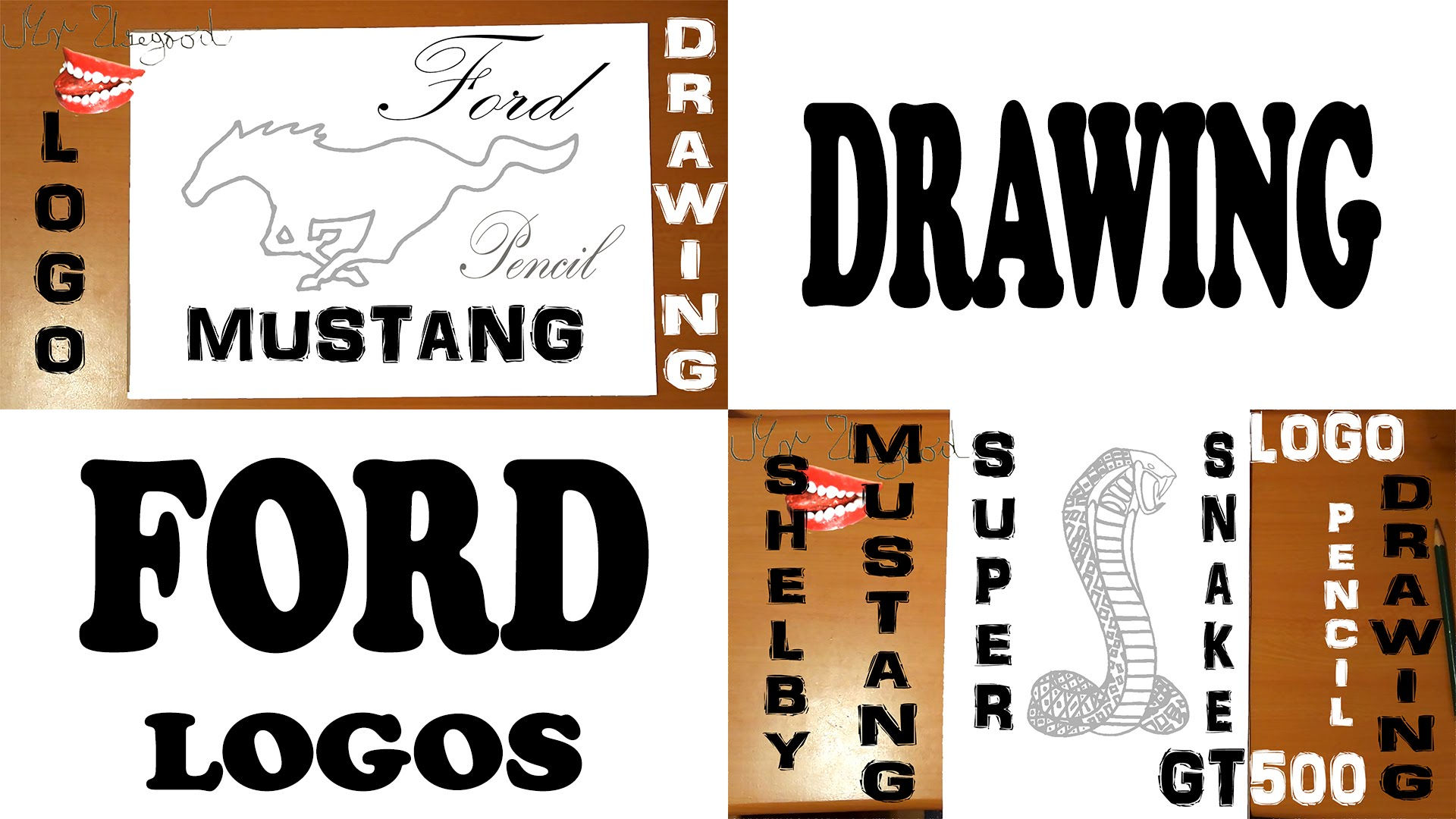 1920x1080 How To Draw Ford Logo Easy Ford Mustang Logo And Shelby Gt500