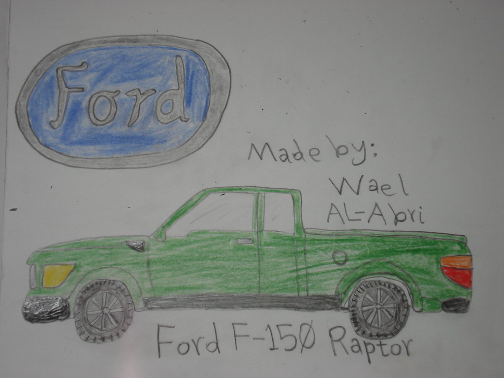 Ford Raptor Drawing At Free For Personal Use Truck Coloring Pages 1024x768 A F 150 By Wael Sa