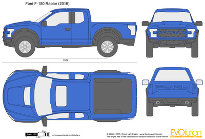 400x271 Ford F 150 Raptor Vector Drawing