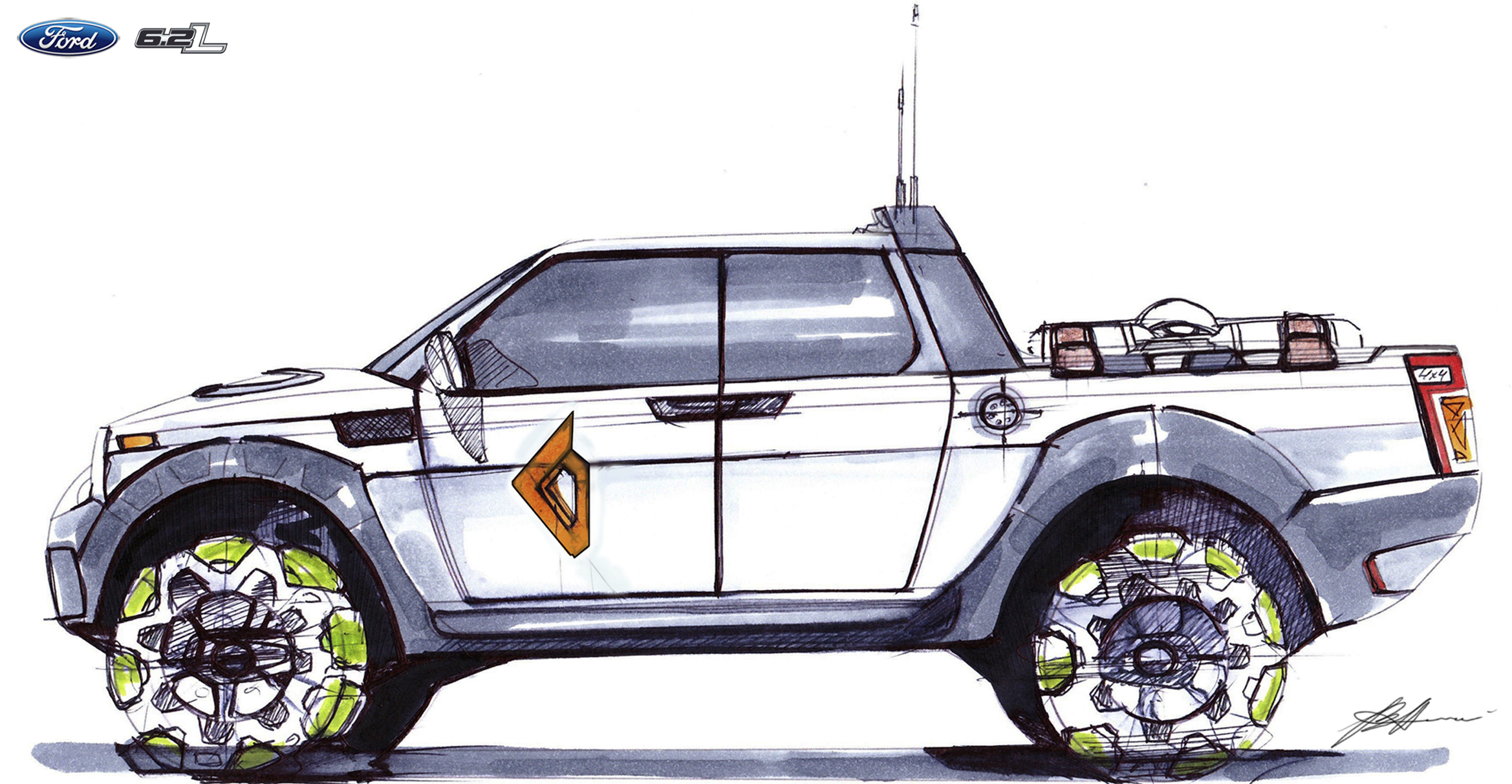 2338x1213 Ford Raptor My Sketches Ford Raptor And Ford