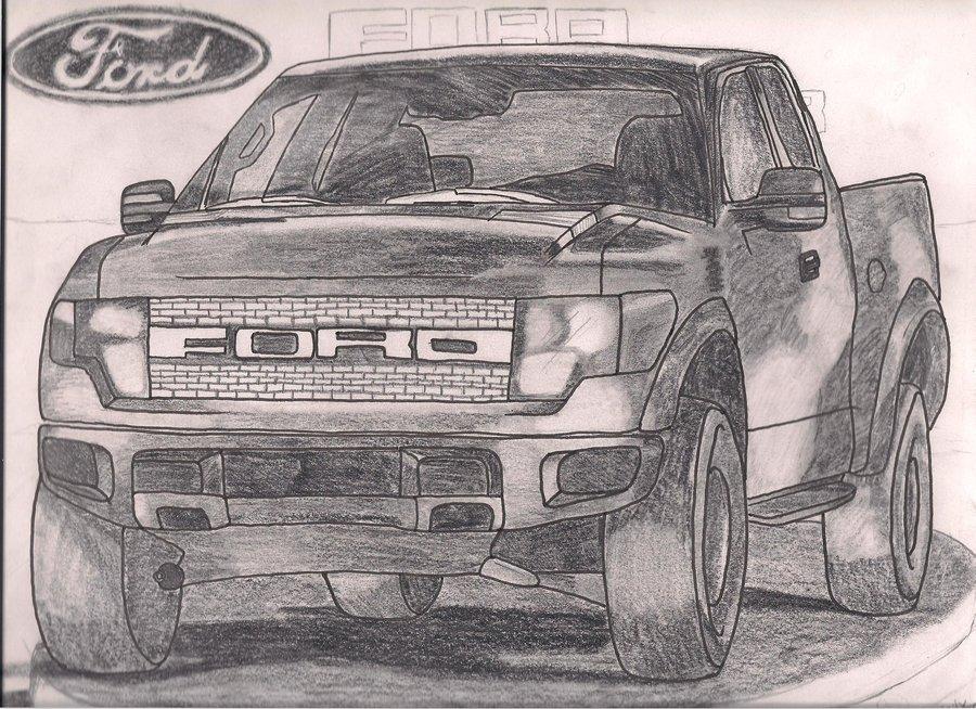 Ford Raptor Drawing At Getdrawings