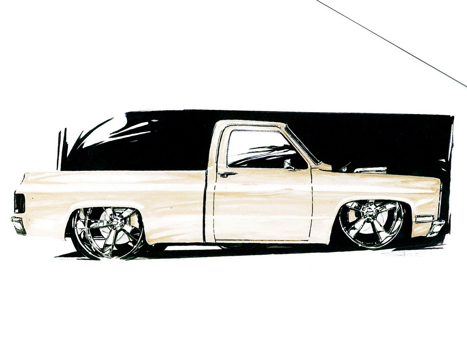 1600x1200 Cool Truck Drawings In Pencil 1949 Ford Truck
