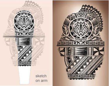 371x291 Polyneisan Tattoo Sketch On Arm Tattoo Tattoo
