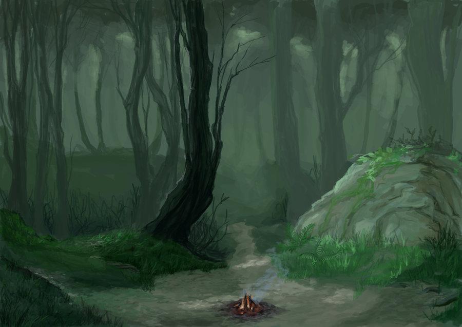 900x637 Background Dawn In Forest By Skart2005