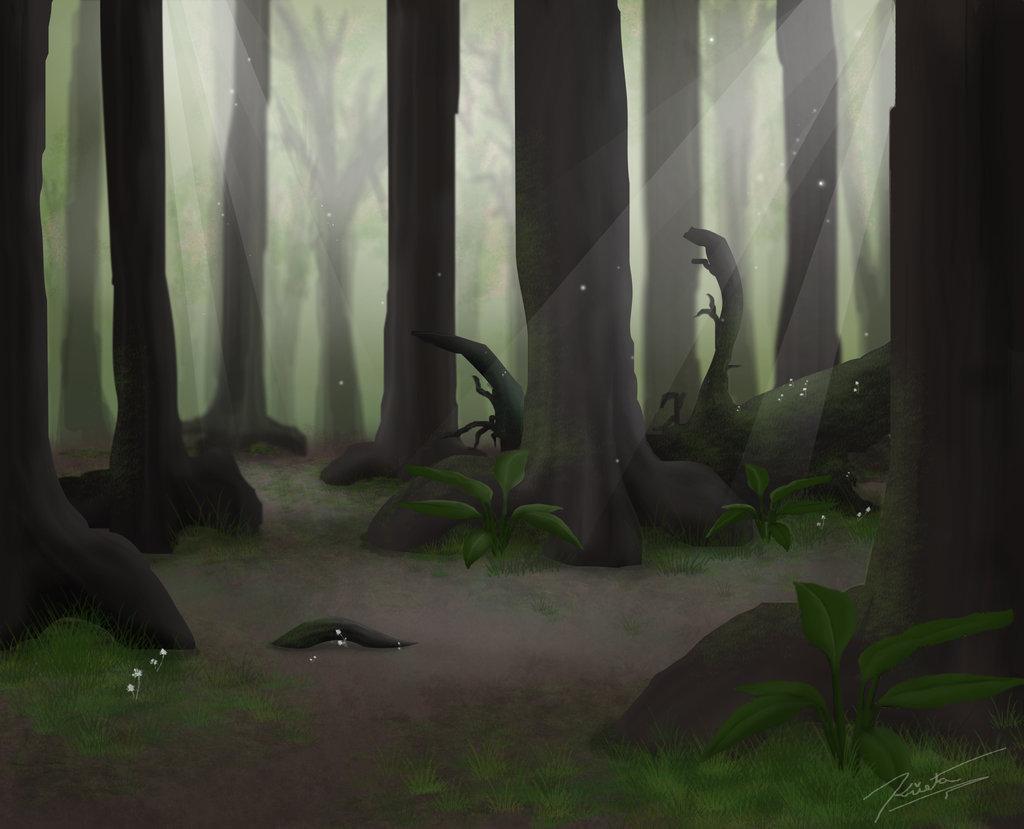 1024x829 Summer Forest Background By Labinnak