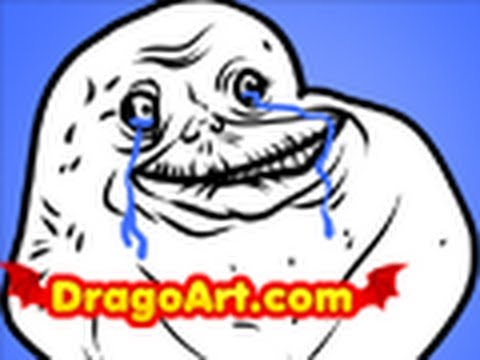 480x360 How To Draw Forever Alone, Forever Alone, Step By Step
