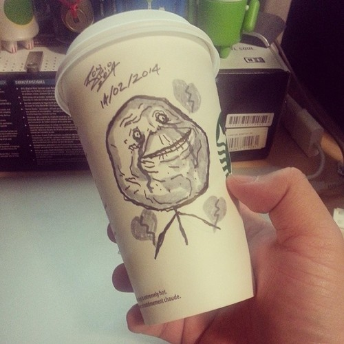 500x500 Meet Ron, A Starbucks Coffee Cup Artist Artsocket Gallery Magazine