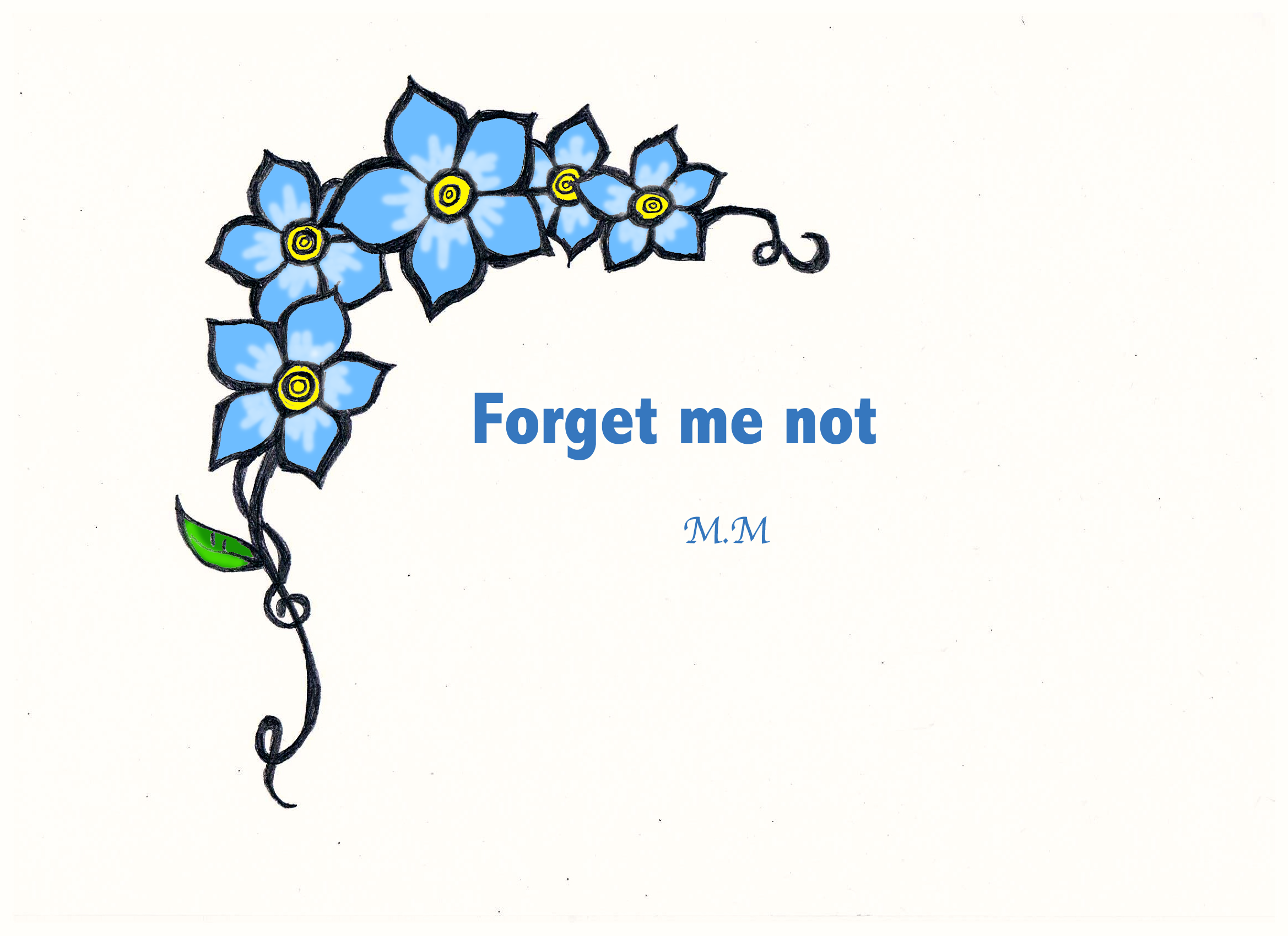 2338x1700 The Forget Me Not By Mikayla1234