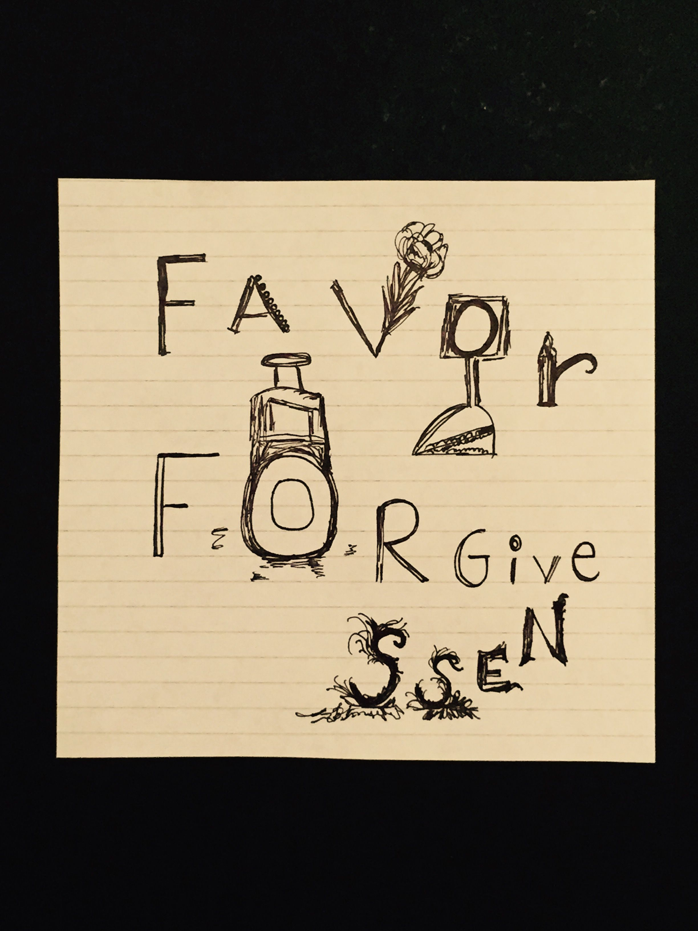 2448x3264 Favor Forgiveness (Drawing) By Marisa Nisely My Quotesdrawings