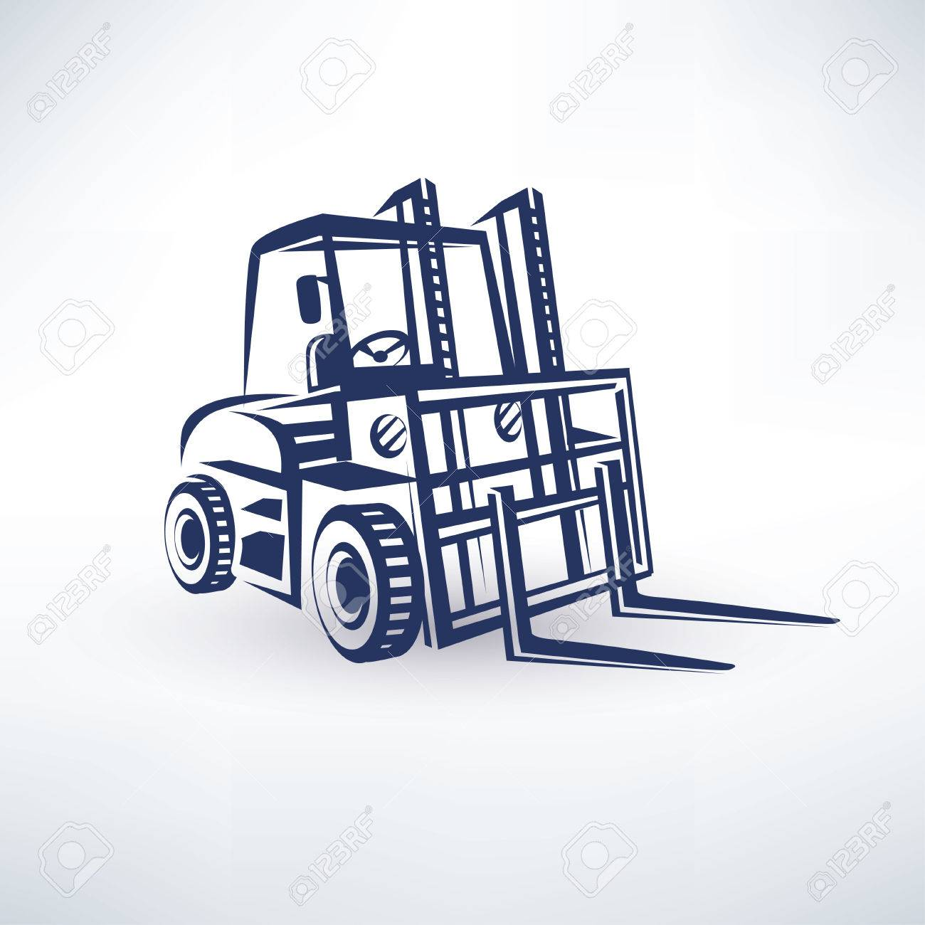 1300x1300 Forklift Isolated Vector Symbol Royalty Free Cliparts, Vectors