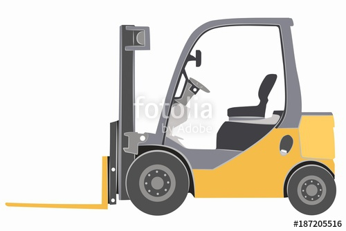 500x334 Illustration Of A Forklift. Vector Drawing Stock Image