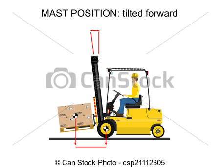 450x341 Illustration Of Operating The Forklift. Vector Vector Clipart