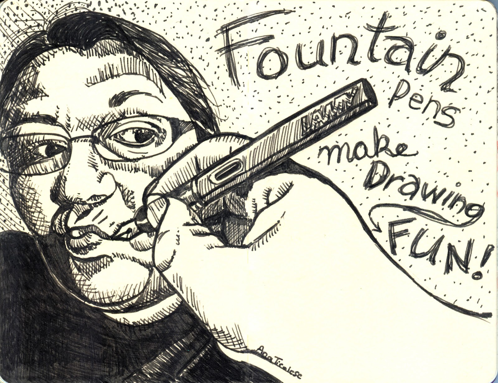 1600x1232 Ana's Strictly Sketchbook Fountain Pens Make Drawing Fun!