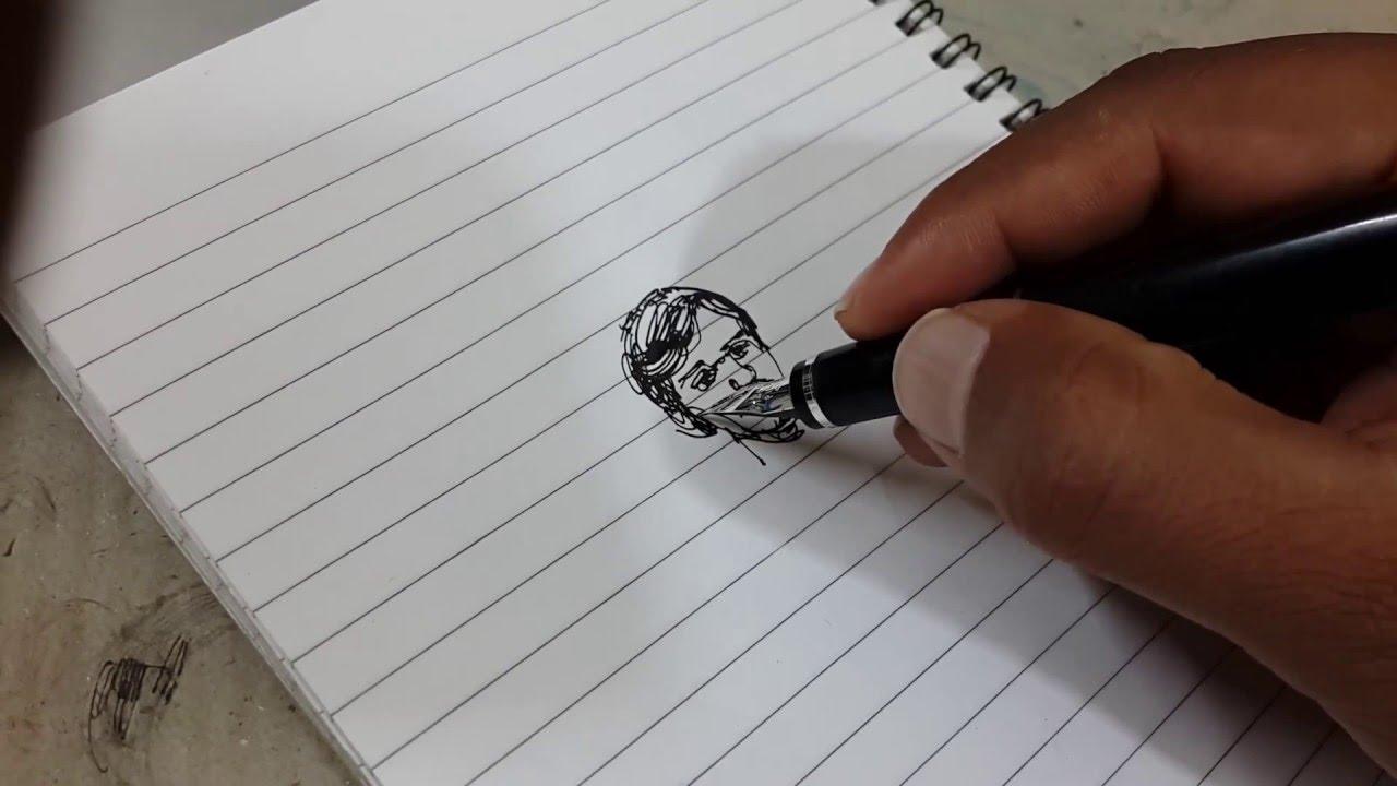 1280x720 Fountain Pen Drawing