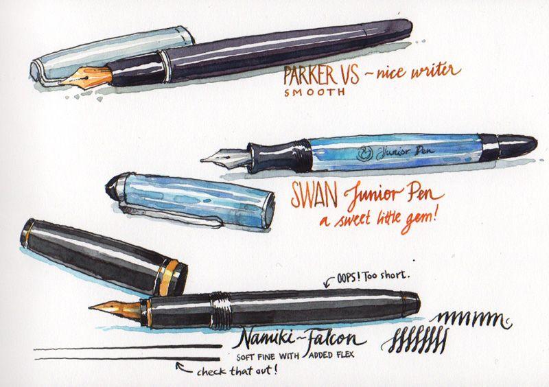 800x564 Nina Johansson Drawing Tools Pen Amp Ink Fountain