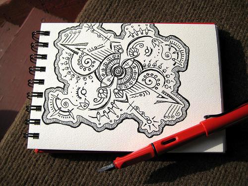 500x375 Pen Amp Ink Sketch Fountain Pen