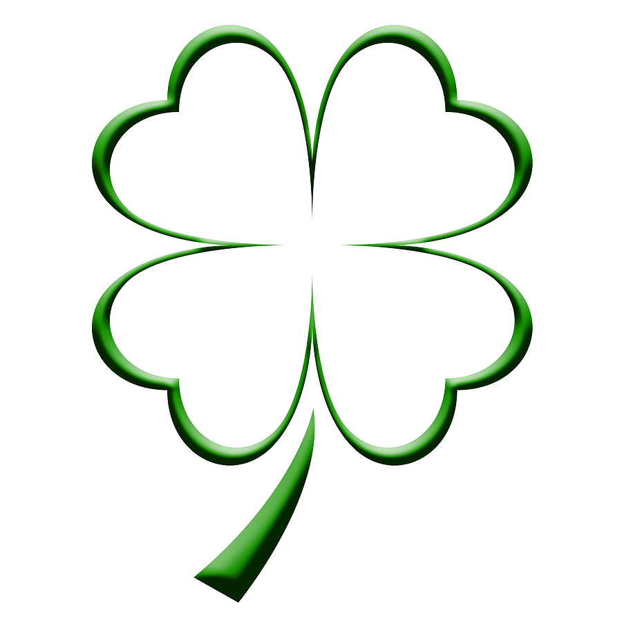 900x900 4 Leaf Clover Drawing Four Leaf Clover Coloring Page