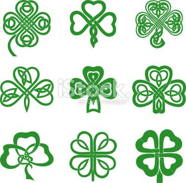 380x374 Collection Of Celtic Knot Shamrocks Including Three And Four Leaf