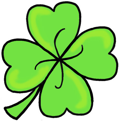 400x409 Sensational Pictures Of Shamrocks How To Draw A Four Leaf Clover
