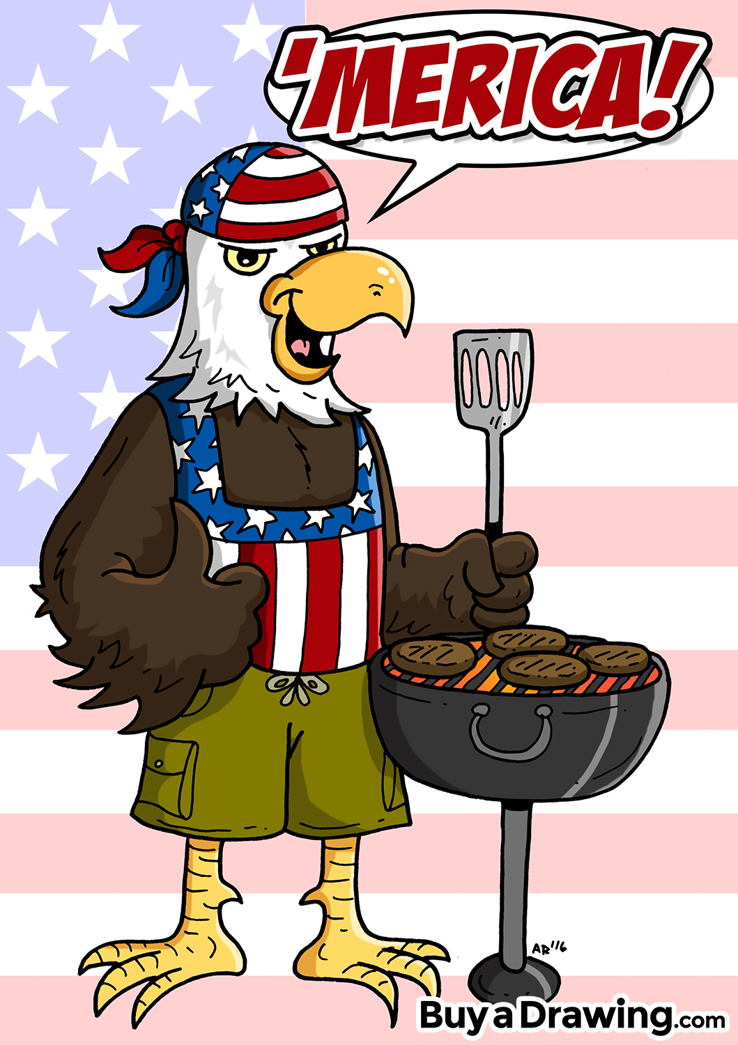 1059x1500 Cartoon Bald Eagle