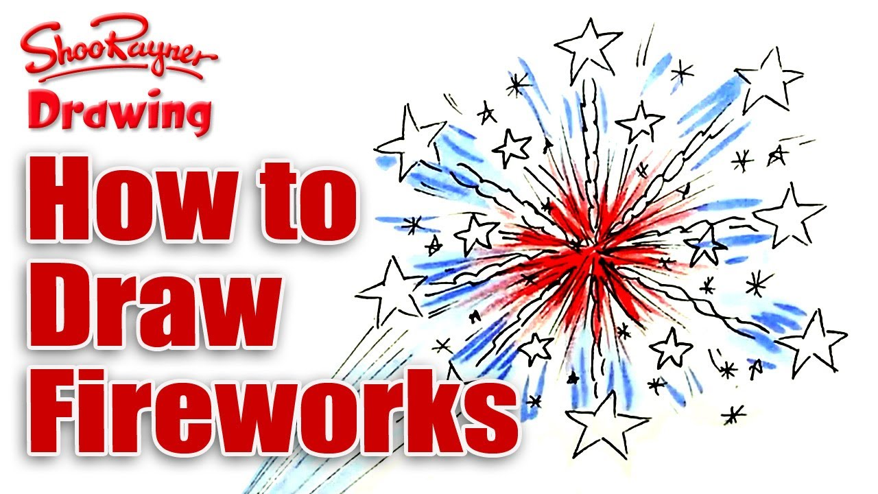 1280x720 How To Draw Fireworks For The 4th Of July