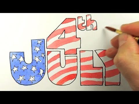 480x360 How To Draw The 4th Of July!