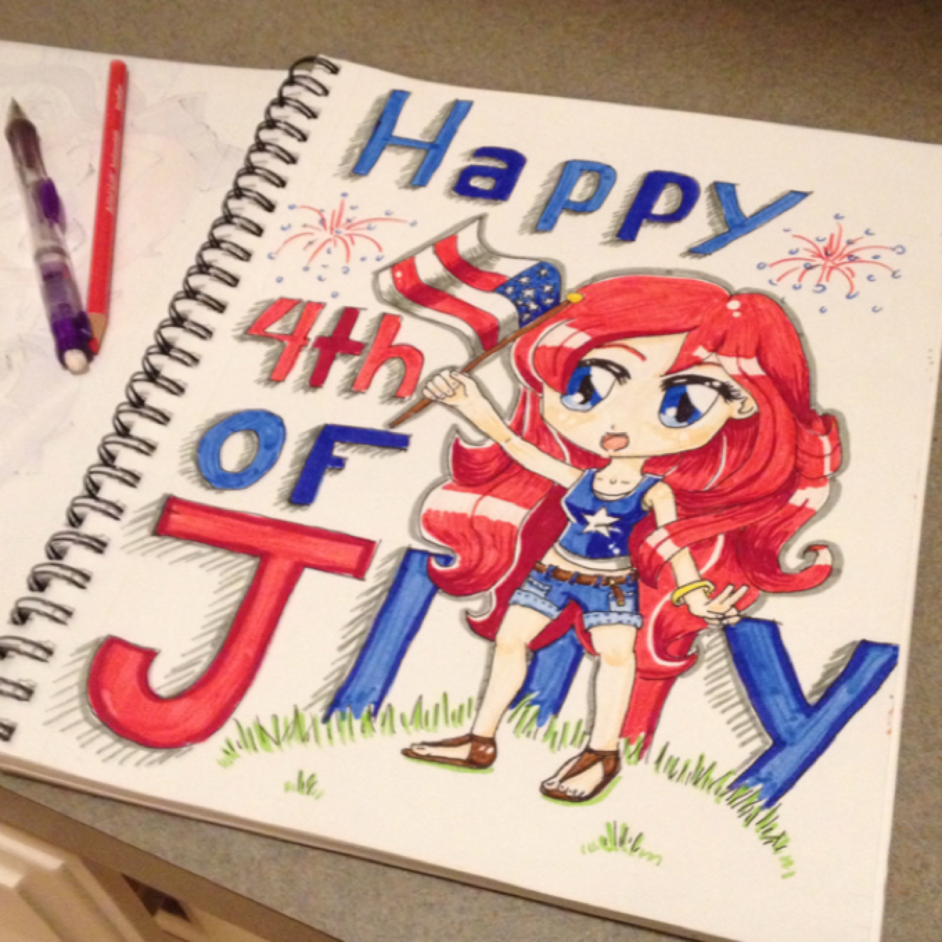 1360x1360 July4 Drawings On Paigeeworld. Pictures Of July4