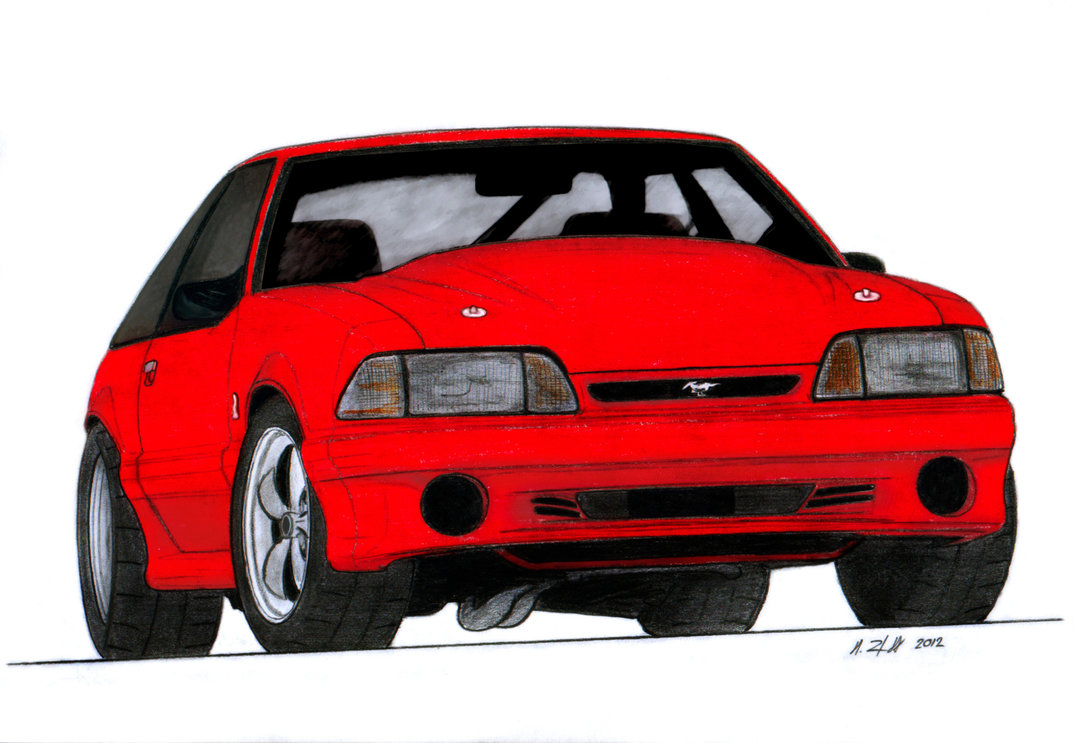 1074x743 1993 Ford Mustang Cobra Drawing By Vertualissimo