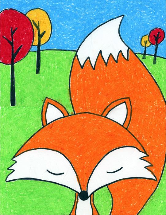 541x700 Cartoon Fox