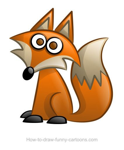 425x515 Fox Drawings (Sketching + Vector) Foxes, Cartoon And Fox Drawing