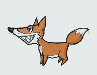 400x309 Easy To Draw Cartoon Fox