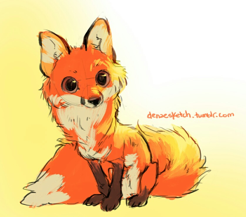 837x741 Fox Drawing By Denaesketch On Tumblr