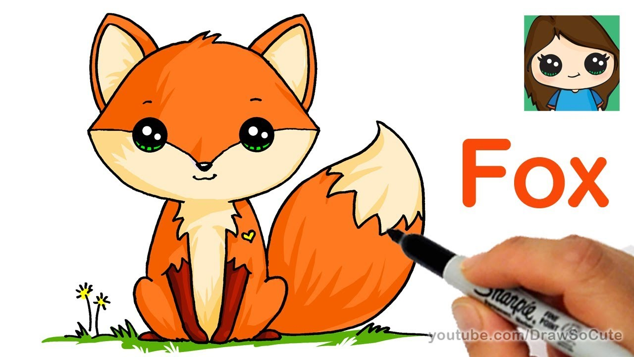 1280x720 How To Draw A Cute Fox Easy