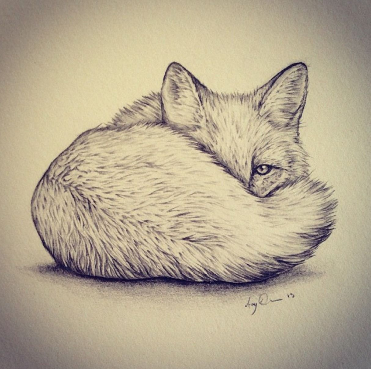 1214x1208 I really want a fox tattoo on my ribs one day. And it would