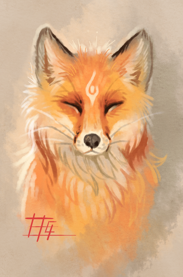 600x907 The fox by on @DeviantArt Foxes