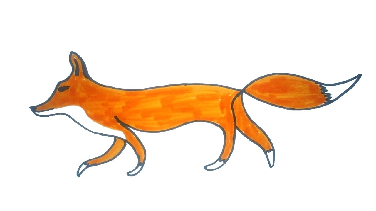 1280x720 fox Drawing how to draw a easy fox Easy Step By Step Drawing