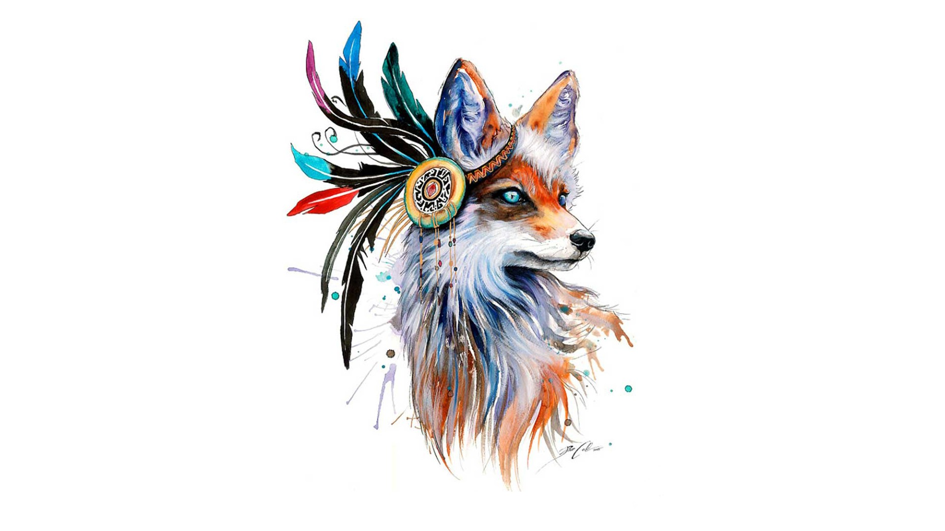 1920x1080 Wallpaper Drawing, Colorful, Illustration, Animals, Simple