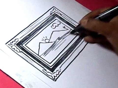 480x360 How To Draw Photo Frame Drawing For Kids