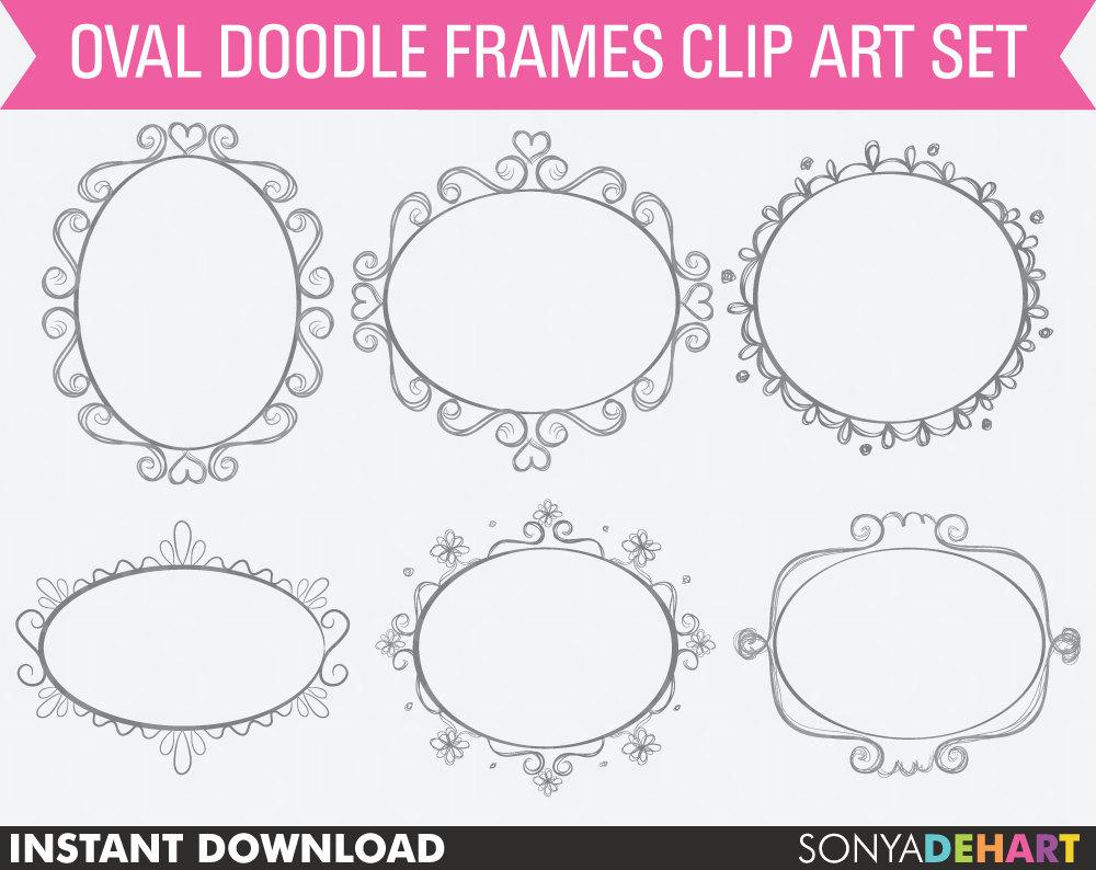 1000x794 80% Off Sale Doodle Frames Clipart Frames Digital Frames