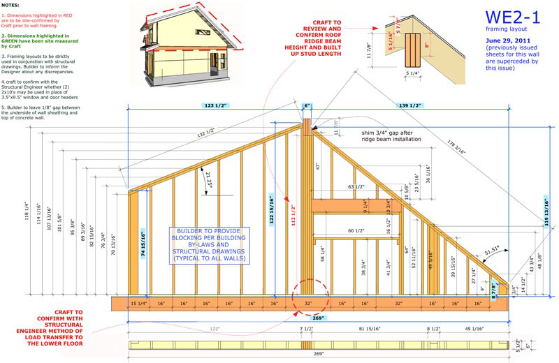 800x520 E46 Wall Framing Shop Drawings With Sketchup Layout Studio