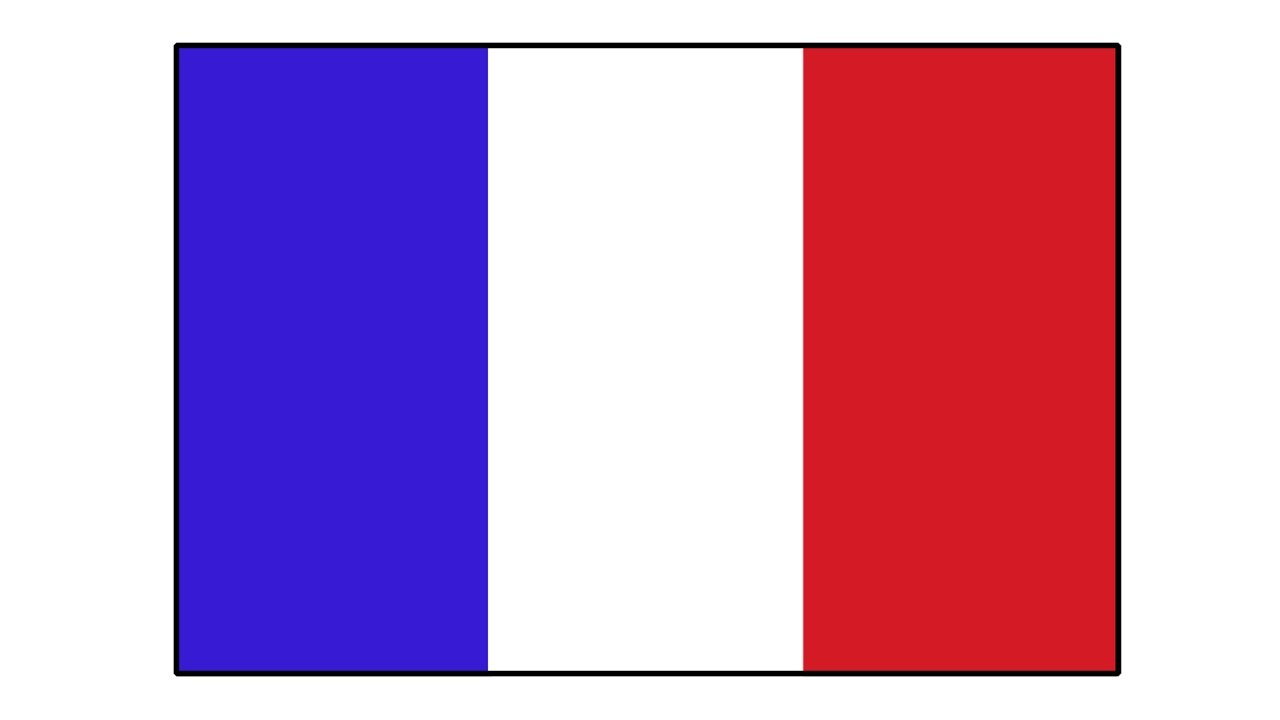 1280x720 Drawing The French Flag How To Draw Timelapse