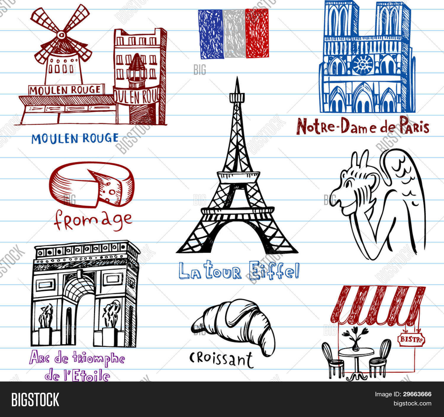 1500x1409 Symbols France Simple Drawing Vector Amp Photo Bigstock