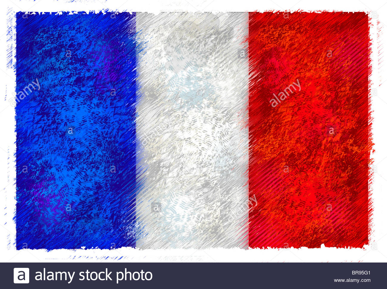 1300x971 Drawing Of The Flag Of France Stock Photo 31549393