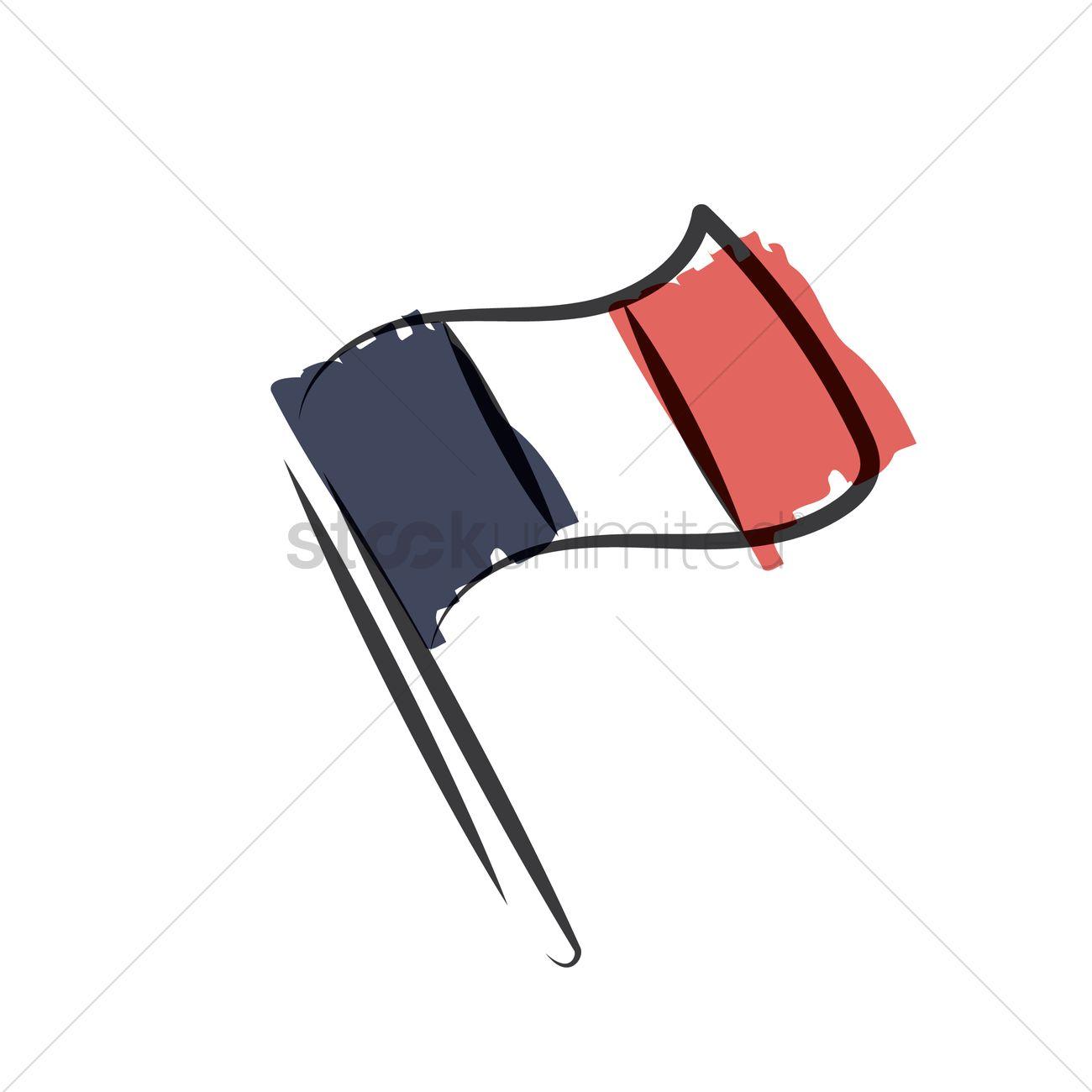 1300x1300 France Flag Vector Image