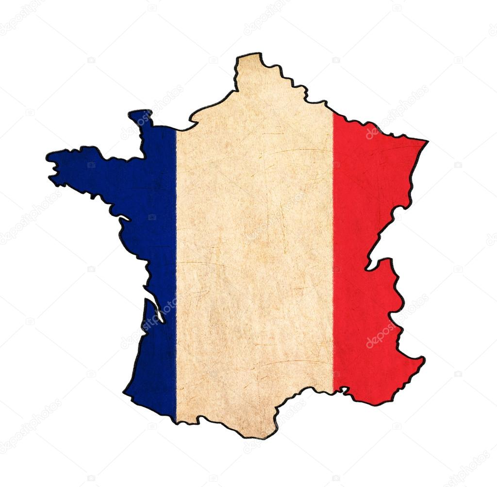 1024x1002 France Map On France Flag Drawing ,grunge And Retro Flag Series