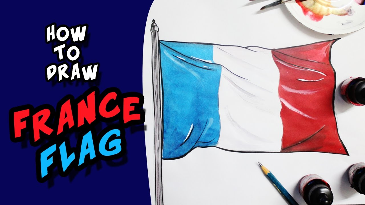 1280x720 How To Draw National Flag Of France Flag Step By Step