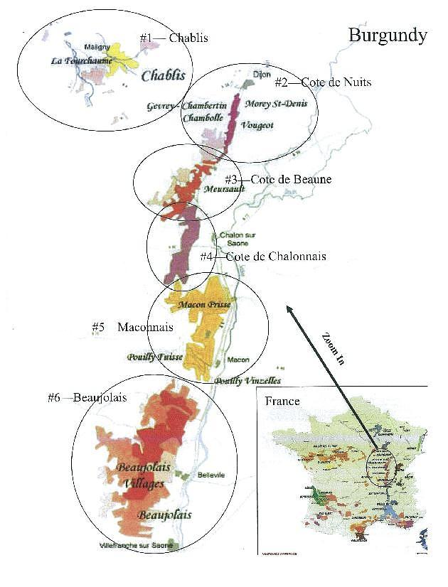 630x826 Locator Map For Chablis Region In France Drawing By None