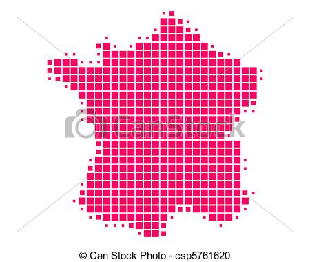 450x380 Map Of France Vector Clipart